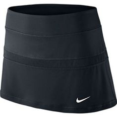 NIKE Court Ladies Tennis Skirt. The Nike Court Women's Tennis Skirt is made with Dri-FIT UV fabric and built-in shorts for a high-performance combination of sun-blocking comfort and feminine style.