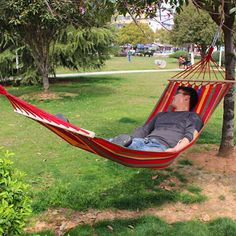 190*80cm Colorful Canvas Fabric Camping Hammock Garden Camping Swing Hanging Bed Outdoor Furniture Hamacas De Dormir Ramak At Any Cost Camp Sleeping Gear
