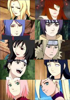 Tsunade, Mei, Konan, Anko, Kurenai, Temari, Tenten, Hinata, Sakura and Ino.