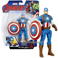 Hasbro Year 2016 Marvel The Avengers Series 6 Inch Tall Action Figure - CAPTAIN AMERICA with Shield