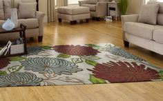 An area rug is a simple update that makes a big difference in any room.