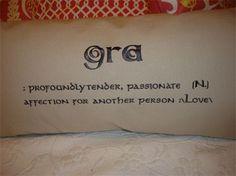 Gaelic Love Pillow