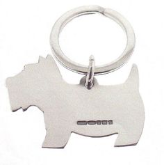 Scottie Dog Silver Key Rings. You will always keep your key rings safe with these charming but functional Scottie dog key rings. $