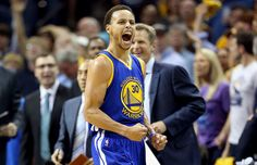 Stephen Curry #30 of the Golden State Warriors celebrates - Andy Lyons/Getty Images