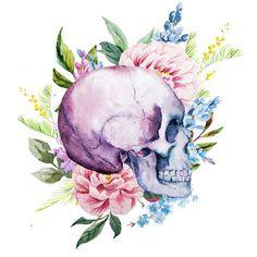 Water Color Skull Tattoo 3.5 inch Sticker Vinyl Decal Stickers die cut