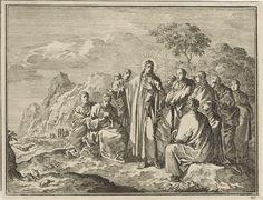 Jan Luyken | Christus wijst zijn discipelen op mussen, Jan Luyken, 1712 |