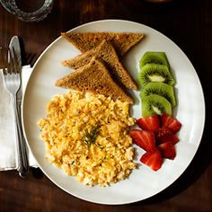 A cheesy scrambled egg Sunday breakfast. Plus tips on how to cook the most perfect eggs.