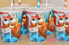 Turbo Birthday Party Cups-Set of 8 on Etsy, $13.40