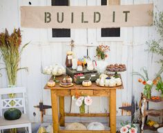 cupcake bar images | images via A Beautiful Mess }