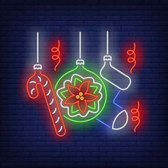 Christmas neon Vectors, Photos and PSD files