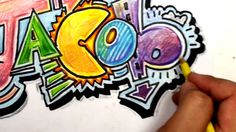 How to Draw Graffiti Letters - Write Jacob in Cool Letters