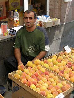 Ashot, the lord of peaches, Armenia :)