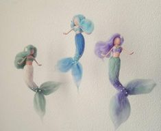 Felted seahorse with Mermaid Jade felted mermaid felted Fairy Crafts, Felt Crafts, Felt Angel, Mermaid Crafts, Baby Mobile, Felt Fairy, Mermaid Dolls, Needle Felted, Fairy Dolls