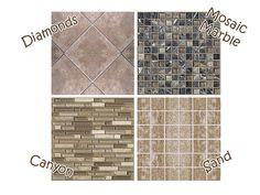 Mod The Sims - Clean Custard - Four New Tiles