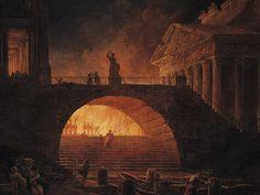 The fire of Rome - Hubert Robert