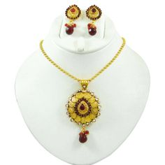 This is a beautiful 2 pcs set of traditional necklace jewelry includes a necklace set and earring set.a ..this is img