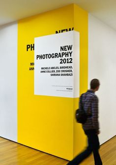 The Department of Advertising and Graphic Design / MoMA / New Photography 2012 / Signage / 2012
