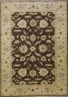 All-Over-Floral-Brown-6x9-Oushak-Chobi-Oriental-Area-Rug-Carpet-8-6-x-6-2