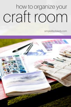 Get even more inspired to create crafts by keeping your craft room organized! Ribbon Organization, Bedroom Organization Diy, Craft Organization, Craft Storage, Storage Ideas, Crayon Holder, Small Mason Jars, Cube Organizer, Create And Craft