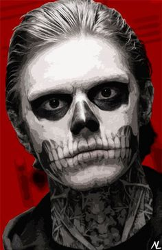 home Movie Fanart - Tate Langdon Story Illustration, Horror Movie Pop Art, Halloween Home Decor Poster, Scary Film Print Canvas Horror Picture Show, Rocky Horror Picture, Halloween Horror, Halloween House, Halloween Costumes, Tate And Violet, Scary Films, Story Drawing, Makeup Drawing