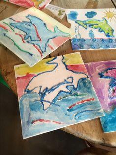 Creafeestje met als thema dolfijnen.