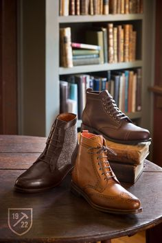 The wingtip is the only one that interests me in this bunch. Hate that football texture to the Point boot.