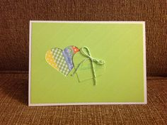 Heart cut out card