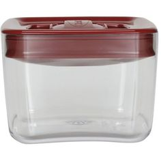 Click Clack Cube 1 Quart Food Storage Container With Red Lid Set Of 2