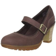 Timberland Women`s Stratham Heights Pump,Dark Brown,7.5 W US..look super comfy for work