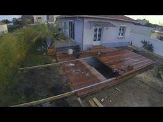 Réalisation d'une terrasse avec terrasse amovible sur piscine par Cube in Life - YouTube
