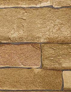 Tan Limestone Brick Wallpaper