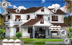 House Ideas Design Collections Two Storey Terrace House Designs Best Modern House Design, House Front Design, Contemporary House Plans, Cool House Designs, Home Design Images, House Design Pictures, Floor Plans Online, Low Cost Housing, Indian Home Design