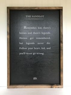 Wood Book Page Sign - the Sandlot Quote Wood Book Page Sign - the Sandlot Quote Sandlot Quotes, The Sandlot, Sign Quotes, Wall Quotes, Lds Quotes, Literary Quotes, Poetry Quotes, Chalkboard Quotes, White Background Quotes