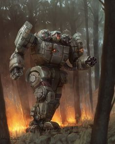 Battletech ---  When is the military going to quit fucking around and start making stuff like this?