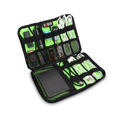 BUBM Electronics Zubehör mach Tasche / Kabel-Organisator / USB Drive Shuttle / Hard Drive Case-Groß (Schwarz): Amazon.de: Koffer, Rucksäcke & Taschen