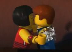 Usually don't like kissing pics but 1 these are lego ninja and 2 as much as I love Cole, Jay and Nya were meant for each other.Cole will find someone some day ; Lego Ninjago Nya, Jay Ninjago, Legos, Ninja Turtle Pumpkin, Jay Kay, Google Music, Lego Knights, Love Scenes, I Have A Crush
