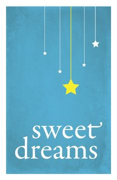 Sweet Dreams child nursery art print stars by GraphicAnthology, $9.00