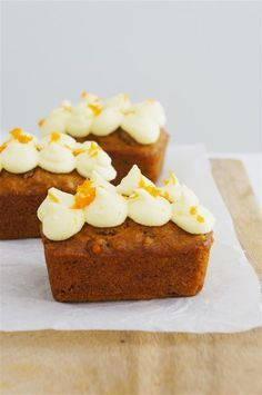Carrot cake mini loaves