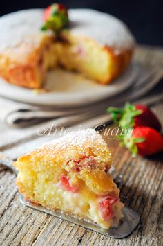 Torta morbida fragole e crema ricetta facile vickyart arte in cucina