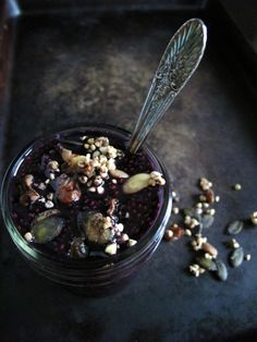 Coconut Grape Chia Pudding