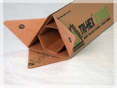 role-up triangular box with a a mid section to support the contents.