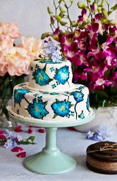 Painted Cake Tutorial - not quite nigella