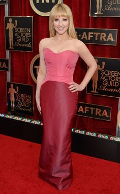 Melissa Rauch from 2015 SAG Awards might be one of my worst from the whole season in this awful Pamella Roland.