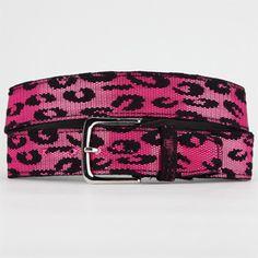 Leopard neon belt