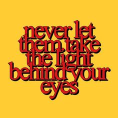 The light behind your eyes // mcr
