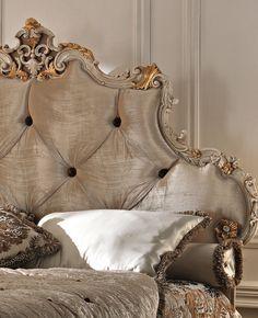Paris Collection Rococo silk headboard