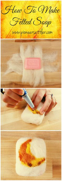 How To Make Felted Soap   Help your skin remove dead skin by making your own favorite felted soap. Felted soap would also make your soaps last longer and this is so great for gifts!  #pioneersettler