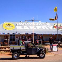 Tomcar outside the Birdsville Bakery. In town for the 2015 Birdsville Races. by tomcaraustralia
