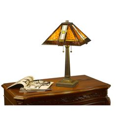 Tiffany-style Mission Aztec Table Lamp - Overstock, $90