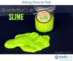 This is a guide about making slime for kids. There are a few different recipes available for making your own slime for the kids to enjoy.